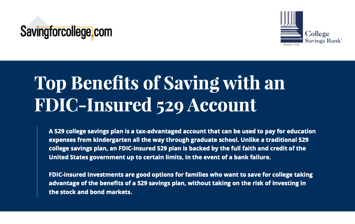 Top Benefits Of Saving With An FDIC Insured 529 Account